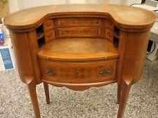 Louis XV Revival Inlaid Oval Wood Desk Secretary