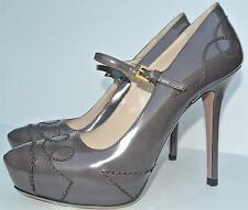 PRADA Gray Mary Jane Pump Sz:38.5 NEW