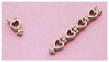 Sterling Silver Heart Style Bracelet Extension (Size = .33 Inches)