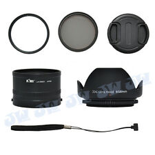 58MM UV CPL FILTER + METAL LENS ADAPTER TUBE HOOD CAP STRING SET FOR PENTAX MX-1