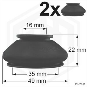 2x Ball Joint Covers 16/35/22 mm Dust Boot Cover Track Rod End Car Van Auto pair
