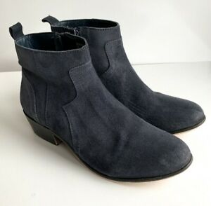 Mantaray Navy Blue Ankle Suede Boots Size EU 38 UK 5