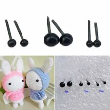 150 pair Black Glass Safety Eyes For Teddy Bear/Dolls/Toy Animal/Felting 2/3/4mm