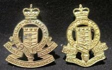 Royal Canadian Ordnance Corps Post-WWII Pair Wide & Narrow Variety Collar Dogs
