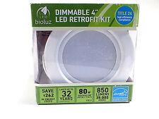 "Bioluz LED Recessed Lighting Dimmable 4"" Retrofit Kit White Energy Star New"