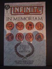 Infinity Inc In Memoriam Justice Society of America #30 Sept 1986 VF nice copy