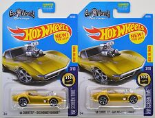 2017 Hot Wheels: GAS MONKEY GARAGE '68 CORVETTE - 1 Mint, 1 Non-Mint - 2 Car LOT