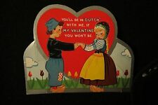 Vintage Dutch Holland Children Valentine Card 1940S