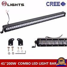 "Slim 41""inch 200W CREE Single Row Led Light bar Combo Off-road Truck Boat 40/42"
