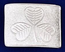 Scottish Kilt Belt Buckle Irish Shamrock Silver Finish/Celtic Shamrock Buckles