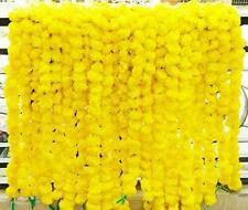 20Pcs Artificial Marigold Flower Yellow Color Garlands Wedding Indian Event Deco