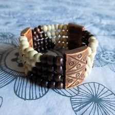 Women African Ethnic Tribal 4 Multi-Color Strands Bracelet