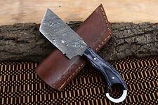 MH KNIVES CUSTOM HANDMADE DAMASCUS STEEL FULL TANG HUNTING/SKINNER KNIFE MH-375V