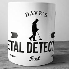 METAL DETECTING FUND PERSONALISED CERAMIC MONEY BOX NEW DETECTOR XMAS GIFT