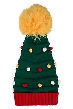 Mountain Warehouse Christmas Tree Womens Beanie Hat Stretch Knit Acrylic 1 Size