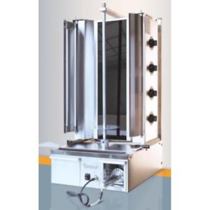 Easy-cut 4 gas burner kebab machine