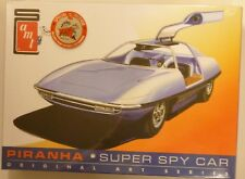AMT 1/25 Piranha Super Spy Car Original Art Series W/ Print Model Kit