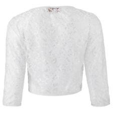 Women Jacket Cropped Blouse Sleeve Shrug Bolero Open Lace Cardigan Ladies Sheer