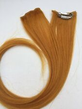 "18"" Clip in Human Hair Extensions streaks #144 Golden Yellow 2 Pcs"