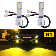 New 2x H1 3000K Yellow 70W 8000Lm Cree Led Headlight Bulbs Kit Fog Driving Light