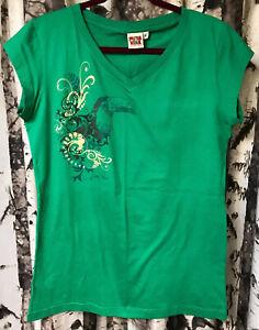 PURA VIDA Jr. Wm smaller XL Costa Rica Souvenir Toucan Bird Knit Top Shirt Vneck