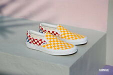 Vans Classic Slip On Checkerboard Multi Men's Classic Skate Shoes Size 12