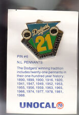 VINTAGE L.A. DODGERS UNOCAL PIN (UNUSED) - N.L. PENNANTS 1890-1990