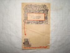 1930 old vintage Morton Morton's food company ad receipt poster logo palestine