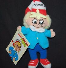 "Kellogg's Snap Crackle Pop Red Stocking Cap NWT 7""  Plush Stuffed Animal Lovey"