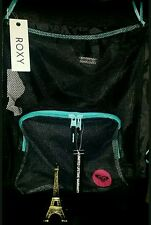 BY QUIKSILVER ROXY GIRL'S WOMEN'S BEACH GYM SCHOOL BACKPACK BLACK TURQUOISE