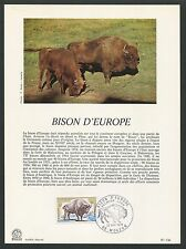 FRANCE CEF 1974 BISON WISENT ERSTTAGSBLATT SAMMELBLATT DOCUMENT z1521
