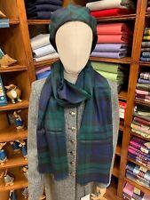 100% Pure New Wool Pashmina | Lochcarron | Made in Scotland | Black Watch Tartan