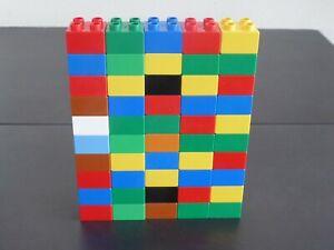 LEGO DUPLO +++ 50 Bausteine 4 er Basicsteine  2x2 Noppen + Motivstein Konvolut