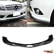 Item In USA Carbon Mercedes Benz W204 Saloon Front Bumper Lip Spoiler Godhand