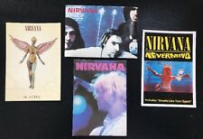 Vintage Nirvana Kurt Cobain(2)4X6 Uk Post Cards (2)Stickers Total Lot of (4)Mint