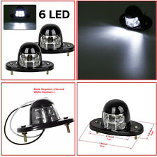 Universal White 6 LED Waterproof Car SUV License Plate Light Boat Courtesy Light
