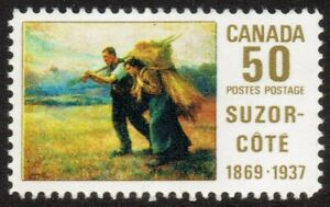 1969 CANADA PAINTER SUZOR-COTE 1869-1937 50¢ STAMP, Mint L/Hinged MLH, Scott 492
