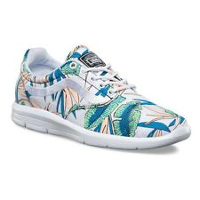 VANS ISO 1.5 (Tropical Leaves) True White UltraCush Trainer Shoes WOMEN'S 8.5