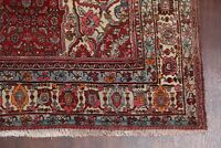Collectible Geometric Bidjar Antique Hand-Knotted Oriental Area Rug 7x11 RUST