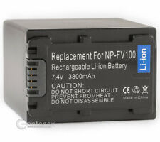 Battery for Sony NP-FV100 NP-FH100 NP-FP90 Handycam HDR-XR500V DCR-DVD105 DVD92