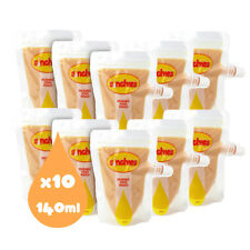 Sinchies 140ml Reusable Food Pouches BPA Pack of 5 Bonus 1lt Pouch