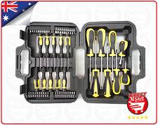 Screwdriver Set 58pc Handtools Hex Head Phillips Flat Head in Carry Case Toolset