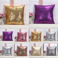 40x40 Solid Glitter Sequins Throw Pillow Case Home Car Decor Waist Cushion Cover