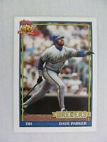 Dave Parker Milwaukee Brewers 1991 Topps Baseball Card 235