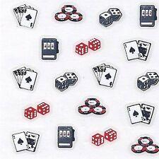 3D Naitattoos - Pokerkarten - Würfel Slotmaschine Pokerchips Zocker Naildesigns