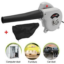 220V 600W Electric Air Blower Hand Held Computer Car Dust Leaf Grass Garden Yard