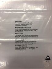 1000 Cellophane Clear Self Seal bag 5 Languages self-adhesive seal 12 x 16 150g