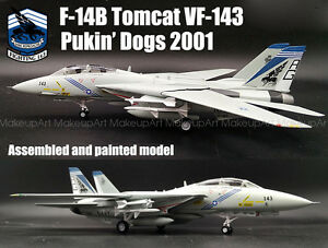 US F-14B Tomcat VFA-143 Pukin Dogs aircraft 1/72 no diecast plane Easy model
