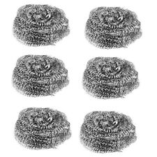 24 x STAINLESS STEEL SCOURERS WIRE KITCHEN CLEANING PADS WASHING UP