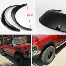 Universal 2x Off Road Truck Pickup Fender Wheel Arch Flaring Covers PP Black New